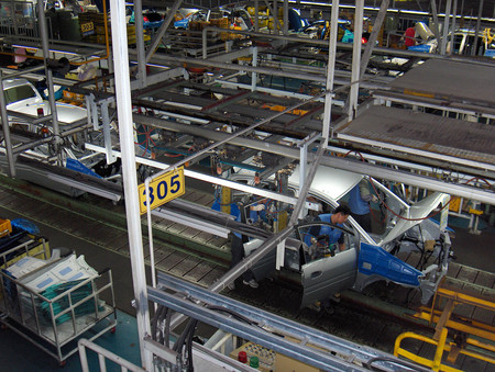 Hyundai Car Assembly Line