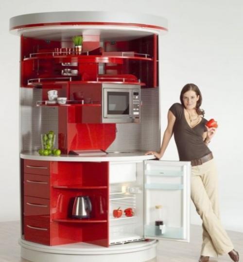 Circular kitchen una cocina diferente for Precio electrodomesticos cocina