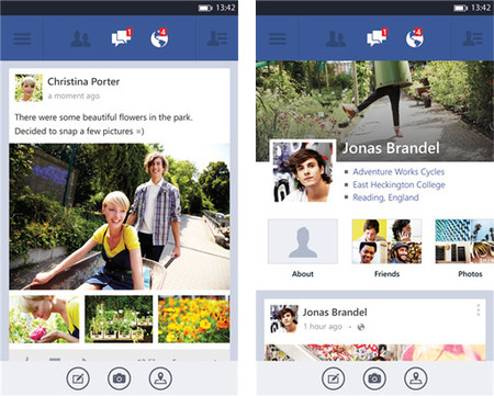 Facebook trae de manera oficial su versión para Windows Phone 8