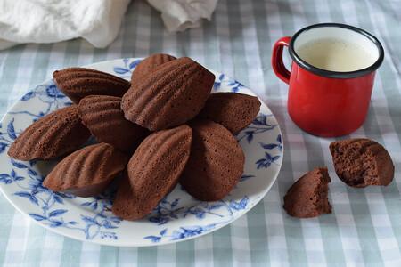 Madeleines de chocolate y café