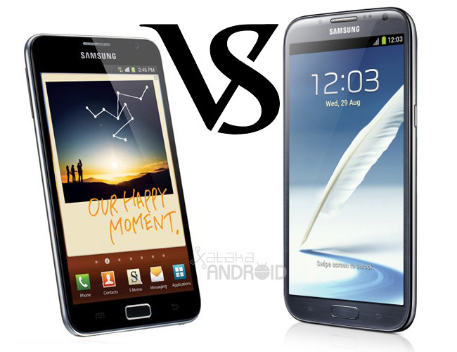 Galaxy Note vs Galaxy Note II