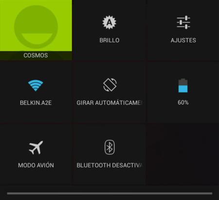 Ajustes rápidos en Android 4.2