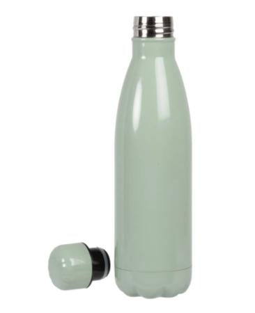 Producto solidario: botella térmica de acero inoxidable verde