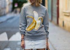 Las bananas son la fruta favorita del mundo de la moda