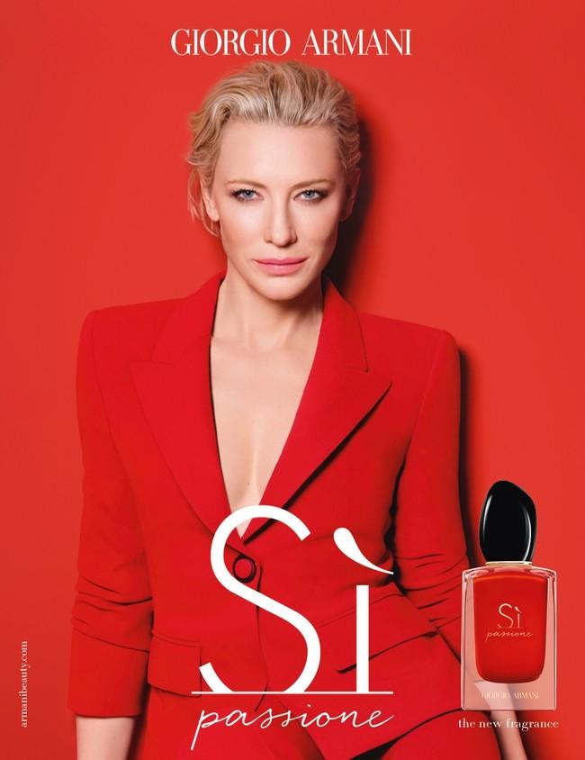 Cate Blanchett Giorgio Armani Si Passione Fragrance Campaign