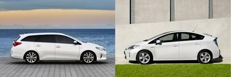 Toyota Auris TS contra Toyota Prius
