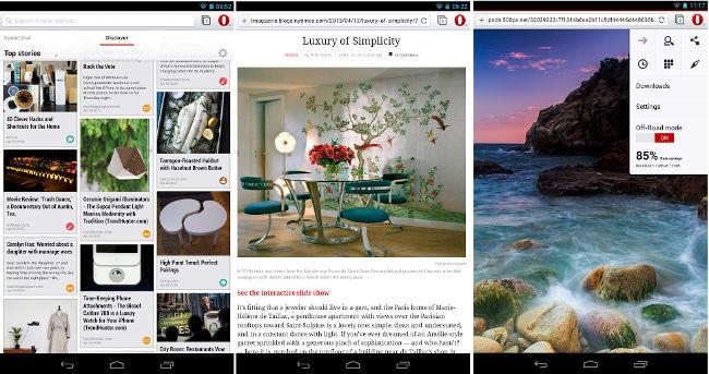 Opera Webkit para Android sale de Beta