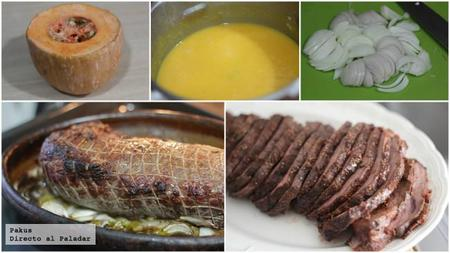 Ternera Asada Carne Con Crema Calabaza Pasos