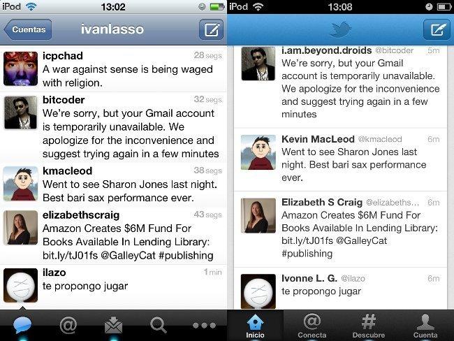 Aplicación de Twitter para iPhone/iPod