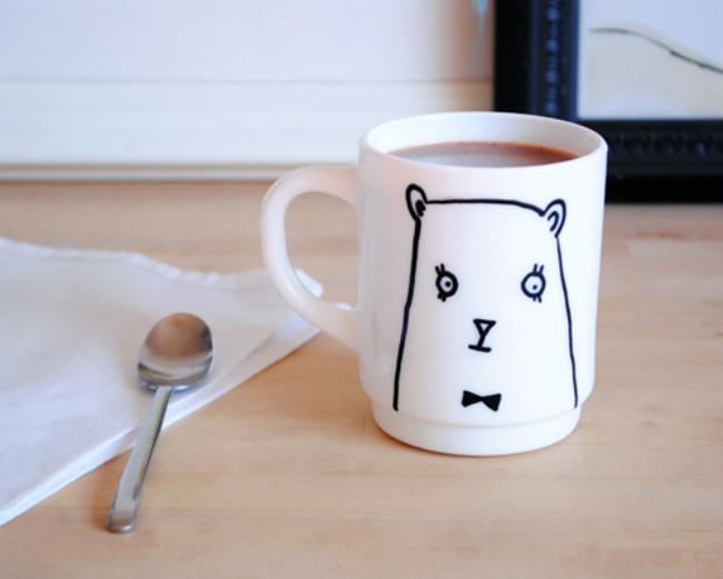 Cómo pintar una taza
