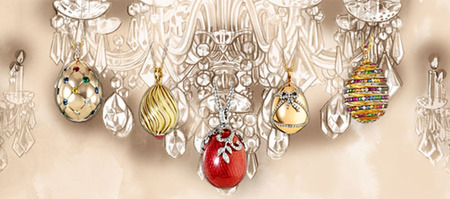 Los famosos Eggs Pendants de Fabergé