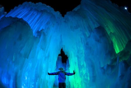Admiremos la helada majestuosidad de los 'Castillos de Hielo'