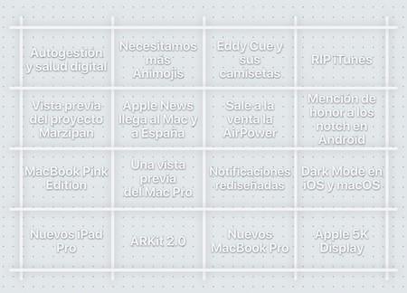 Bingo Applesfera WWDC 2018