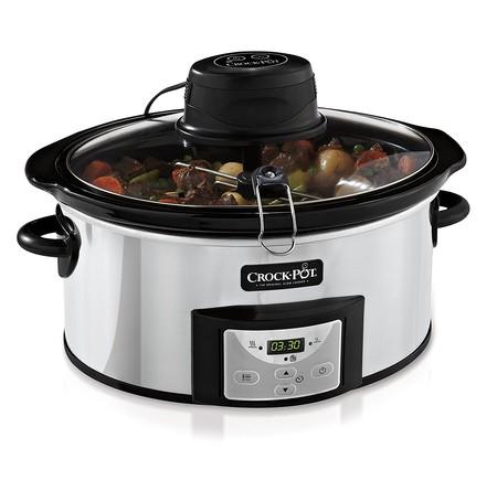 Amazon se adelanta al Black Friday y nos ofrece la olla de cocción lenta Crock-Pot AutoStir CSC012X por 75 euros con envío gratis