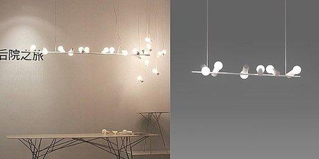 Birds Lamp, lámparas inspiradas en pájaros