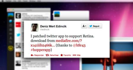 Cliente oficial de Twitter con soporte para pantallas Retina, aunque no de forma oficial