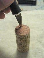 Estampar con el corcho de las botellas de vino
