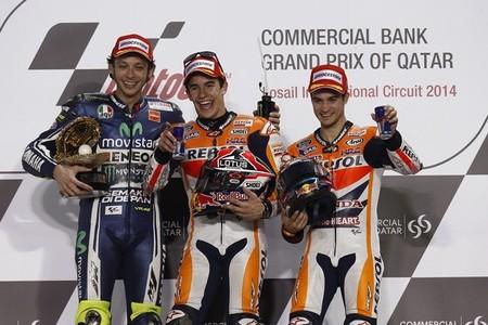 MotoGP Catar 2014: el podio de MotoGP y las declaraciones de los protagonistas