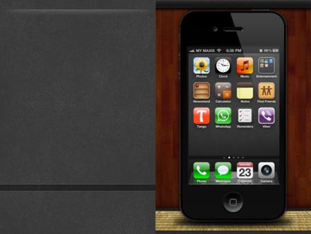 Fondo para el iPhone de cuero