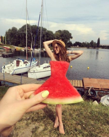 Vestidos de sandía: la divertida y totalmente imponible moda que triunfa en Instagram