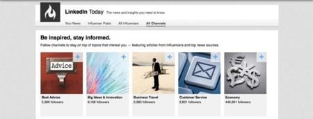 Linkedin añade canales a su sección Today