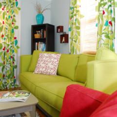 Foto 3 de 5 de la galería un-salon-en-rojo-y-verde en Decoesfera