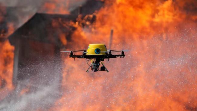 L Drone Fire