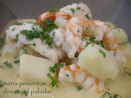 Receta de frutos del mar en gazpachuelo