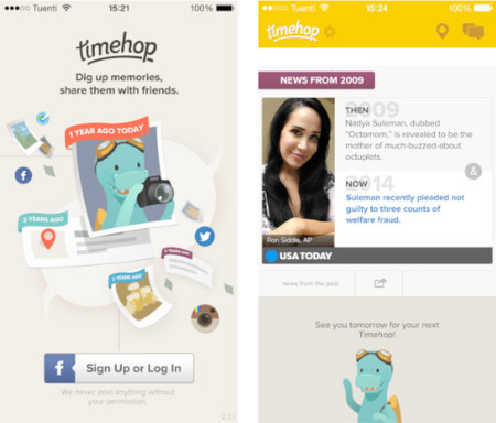 "TimeHop, un ""Time Machine"" de tus redes sociales para el iPhone"