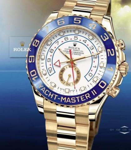 Rolex Yacht-Master II, oro amarillo y cronómetro cuenta atrás único