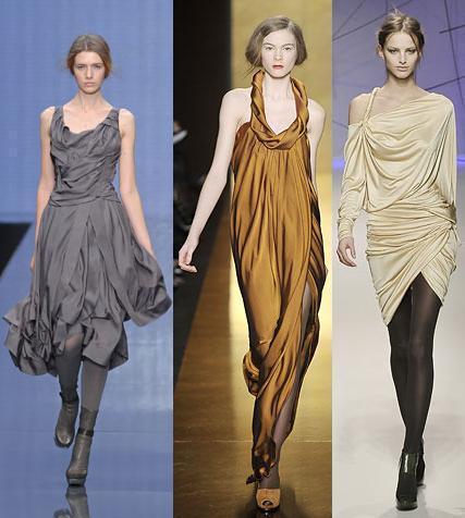 vestidos de noche drapeados
