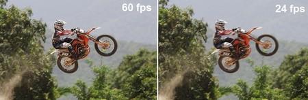 60 fps vs 24 fps
