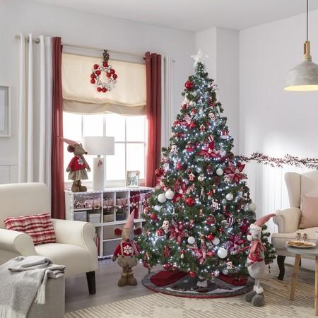 Decoración rojo y blanco Navidad