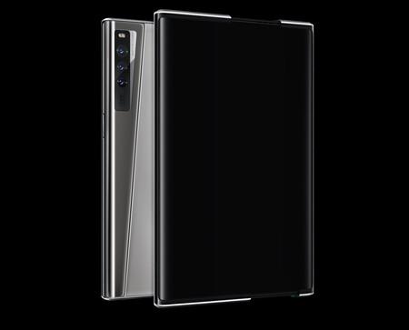Oppo X 2021 Smartphone Pantalla Que Se Estira Concepto