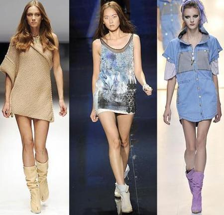 El look 10 de esta primavera: minivestido con bota o botín