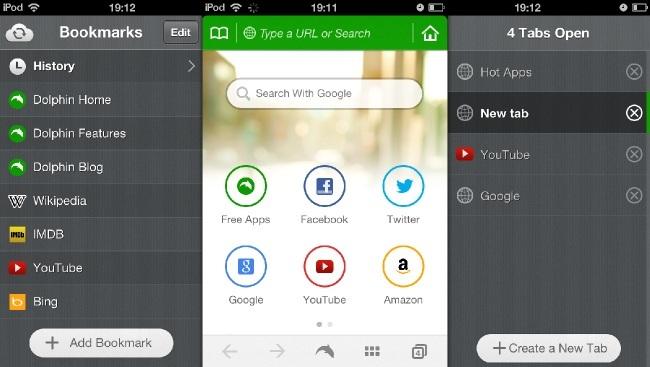 dolphin iphone apple navegador