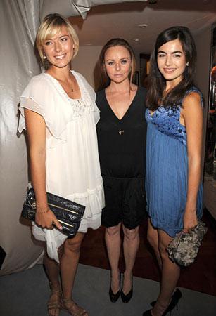 Camille Belle y Maria Sharapova en la fiesta de Stella McCartney