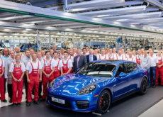 Así despidió Porsche, de su fábrica, el último Panamera de generación pasada