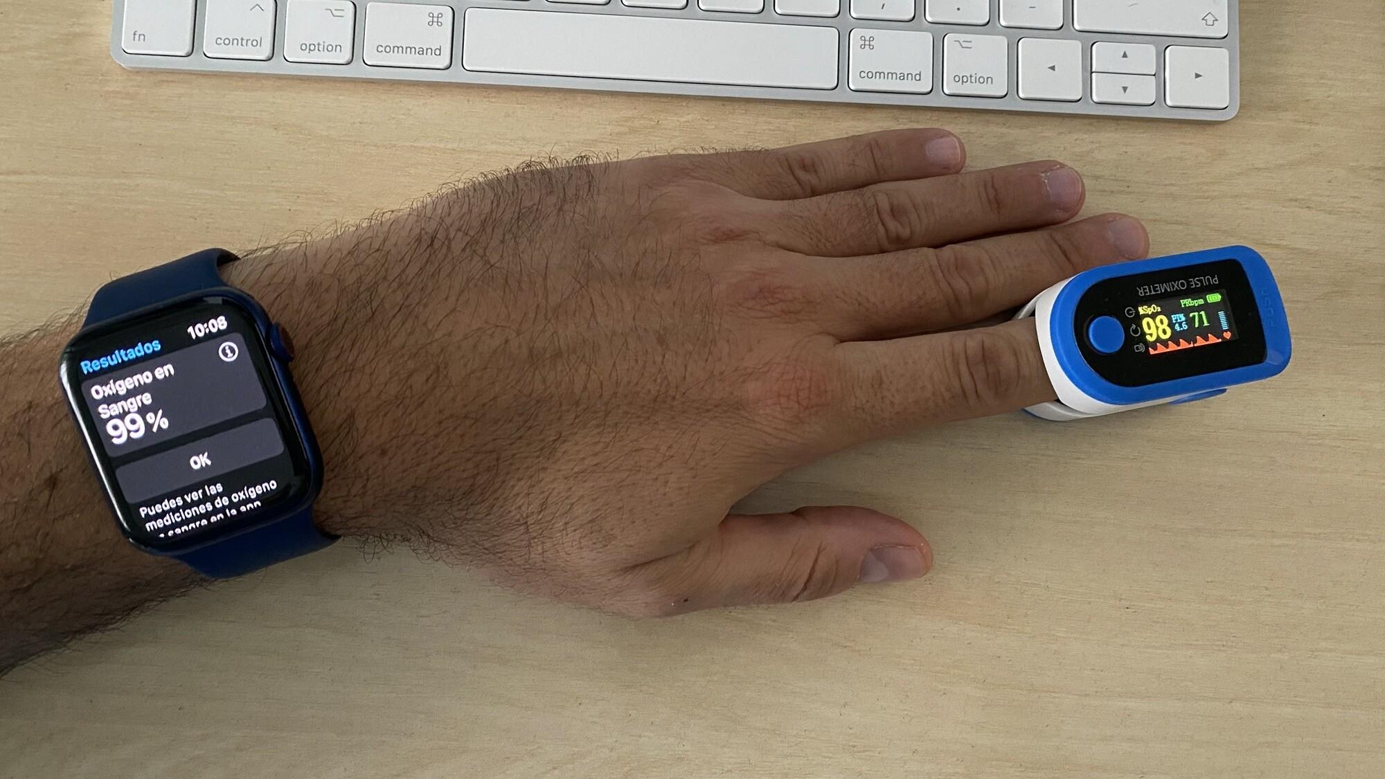 Foto de Mediciones simultáneas SpO2 con Apple Watch Series 6 y pulsioxímetro de dedo (10/12)