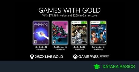 Juegos de Xbox Gold gratis para Xbox One y 360 de octubre 2021