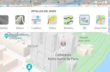 Google Maps para Android: cómo desactivar los edificios 3D del mapa