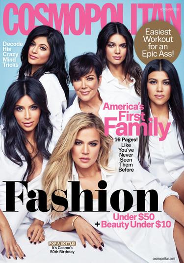 America's First Family, las Kardashian en portada de la revista Cosmopolitan