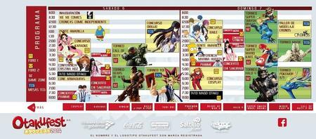Calendario Otakufest 2014