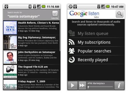 Google Listen se estrena en Android