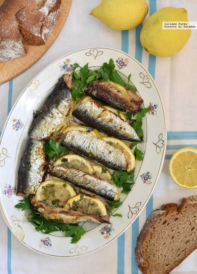 sardinas al horno con perejil