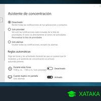 Asistente de concentración de Windows 10: qué es y cómo funciona