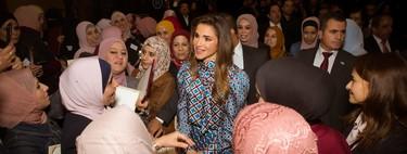 Rania de Jordania elige Zara para lucir uno de sus looks más fabulosos