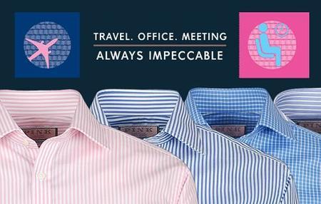 La camisa Traveller de Thomas Pink aterriza siempre impecable