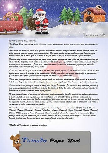 Haz tu propia carta para que Papá Noel responda a tus hijos ...