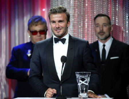 David Beckham: homenajeado en la UNICEF con un impecable tuxedo de Tom Ford